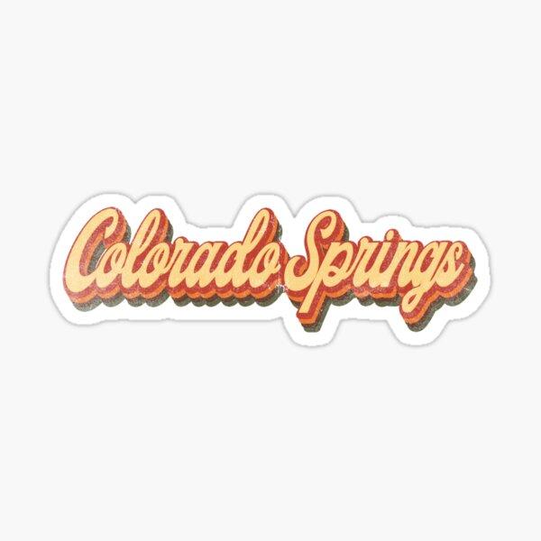Colorado Springs Colorado State Retro Vintage 70s 80s distressed Sticker