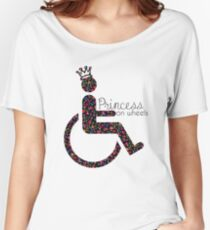 Princess On Wheels (floral) Women's Relaxed Fit T-Shirt
