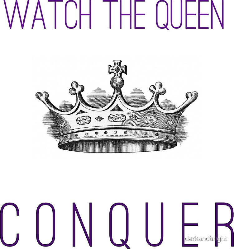 watch the queen conquer stickers by darkandbright. Black Bedroom Furniture Sets. Home Design Ideas