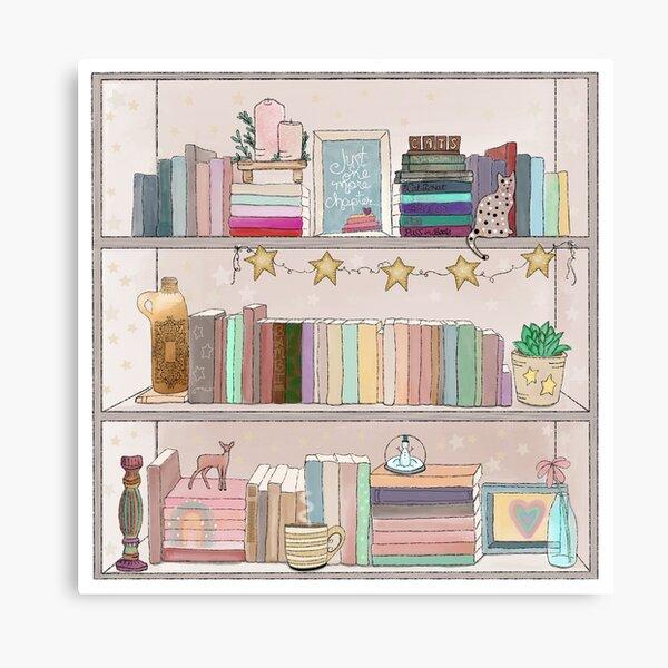 Boho Bear Book Shelf No. 1 Canvas Print