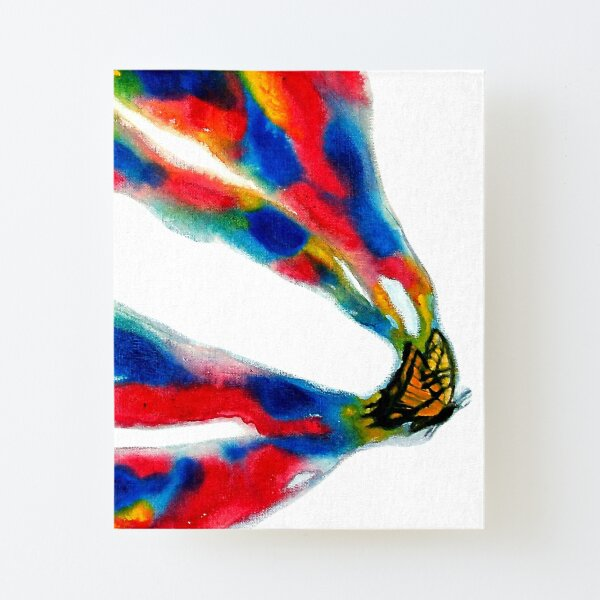 Paint My World - Butterfly Painting Canvas Mounted Print