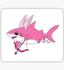 Cupid Shark Sticker