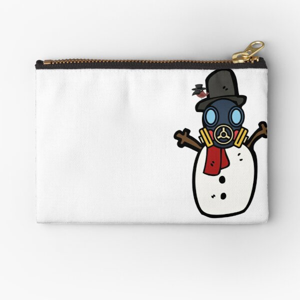 Snowman with mask winter 2021 happy new year Zipper Pouch