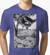 Fallen Columns, Olympia, Greece Tri-blend T-Shirt