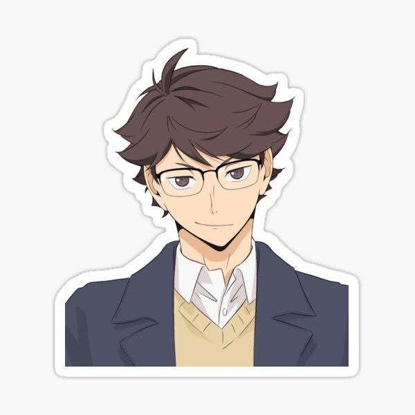 Tōru Oikawa with Glasses Sticker