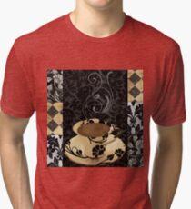 Cafe Noir Damask Tri-blend T-Shirt