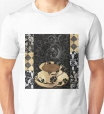 Cafe Noir Damask Unisex T-Shirt