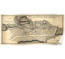 American Revolutionary War Era Maps 1750-1786 795 Plan of the position which the army under Lt Genl Burgoyne took at Saratoga on the 10th of September 1777 Poster