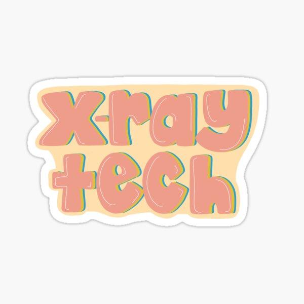 Tecnología de rayos X Pegatina