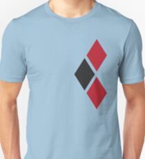 Red and Black Tri-diamonds Unisex T-Shirt