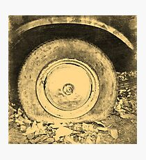 Old Wheel Of Classic Car Photographic Print