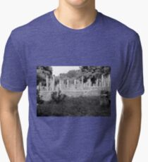 Standing Pillars, Olympia, Greece Tri-blend T-Shirt