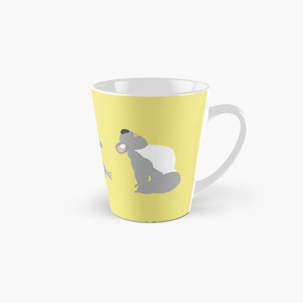 Yoga Koala Bear Yoga Poses Yellow and Grey Tall Mug