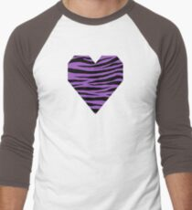 0219 Deep Lilac Tiger Men's Baseball ¾ T-Shirt