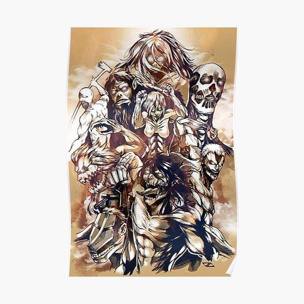 The Nine Titans Attack On Titan Poster