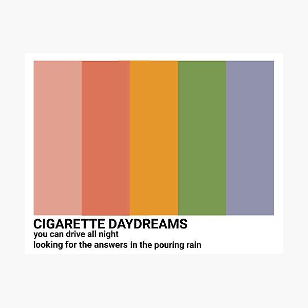 cigarette daydreams color palette Photographic Print