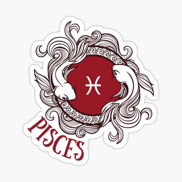 Pisces Two Fish Water Sign Sticker