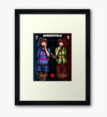 Undertale Mercy or Fight Framed Print