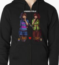 Undertale Mercy or Fight Zipped Hoodie