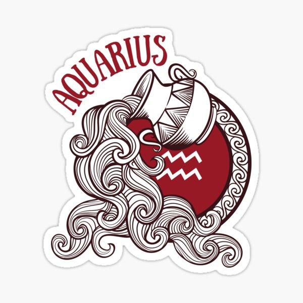 Aquarius Water Bearer Astrology  Sticker