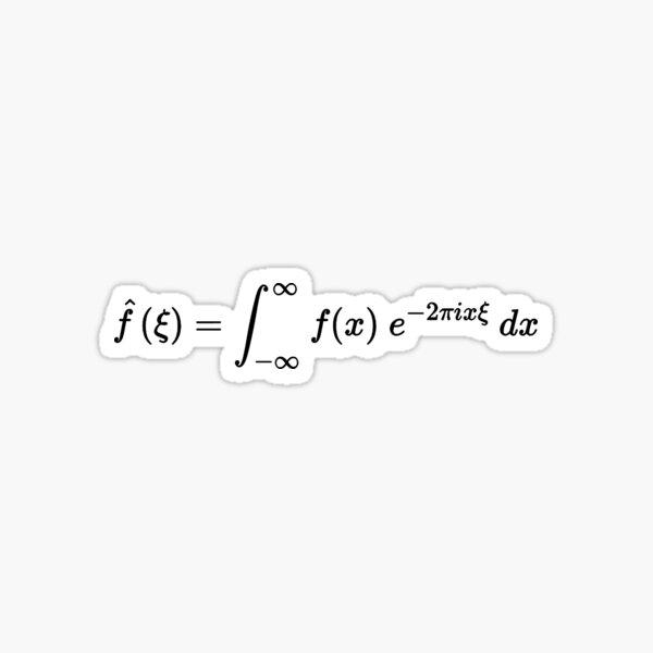 fourier transform equation dark version Sticker