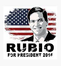 Lámina fotográfica Marco Rubio para presidente 2016