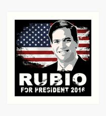 Lámina artística Marco Rubio para presidente 2016