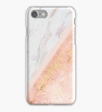 Marble & Rose Gold iPhone Case/Skin