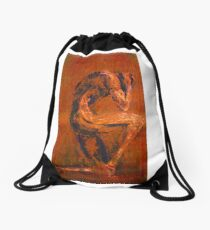Live Rust Drawstring Bag
