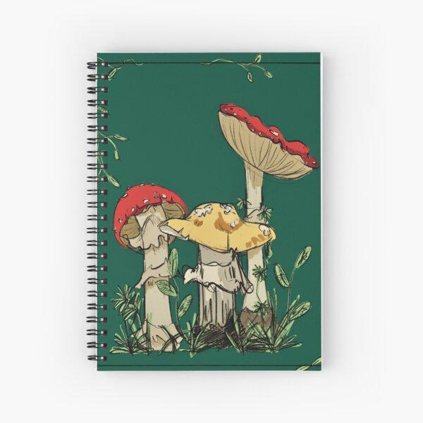 mushroom art Spiral Notebook