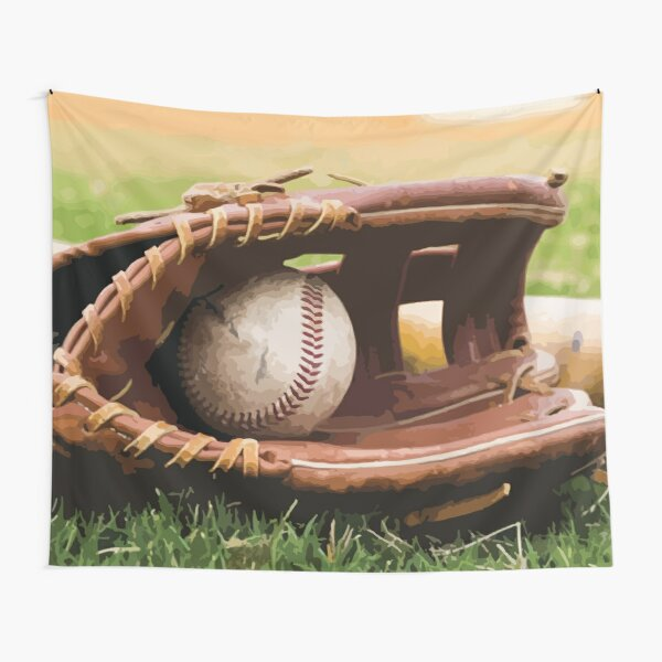 Baseball and glove Tapestry