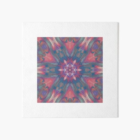 Pink Tulips Abstract Art Board Print