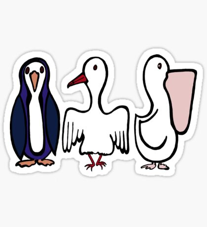 Trio of Birds #2 Sticker