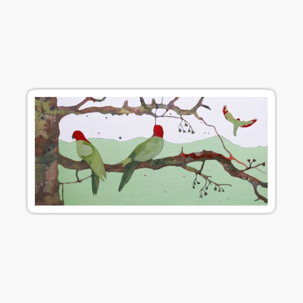 King Parrot Sticker