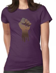 Black Power Womens Fitted T-Shirt