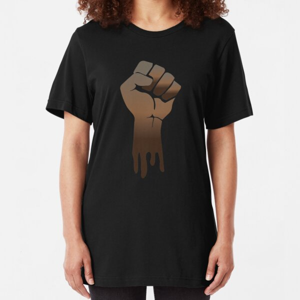 Black Power Slim Fit T-Shirt