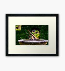 English country garden sun dial Framed Print