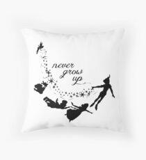 Neverland Never Grow Up   Throw Pillow