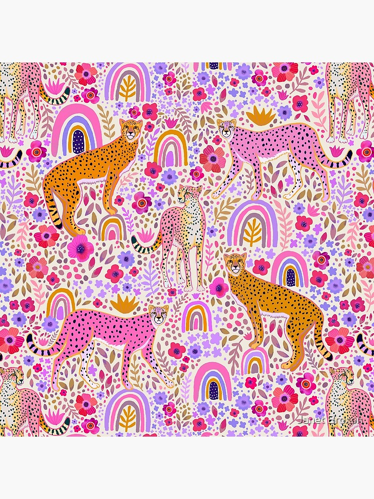 Cheetah's in a Rainbow Garden by jbroxon