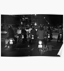 Saigon streets at night Poster