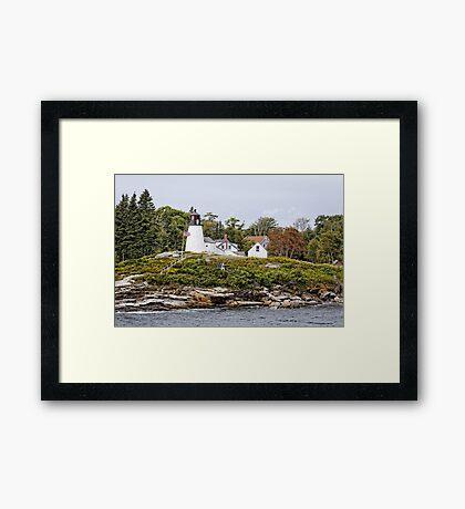 Burnt Island Lighthouse - Maine Framed Print