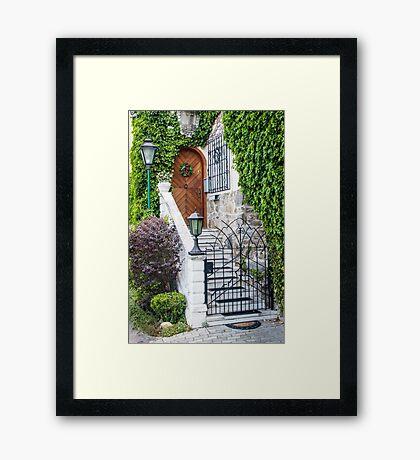 Special Doorway in Durnstein Framed Print
