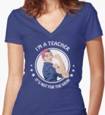 Camiseta entallada de cuello en V Teacher - Not for the weak