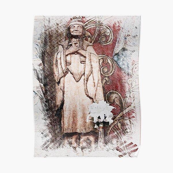 Native American Saint at San Xavier del Bac, Arizona Poster