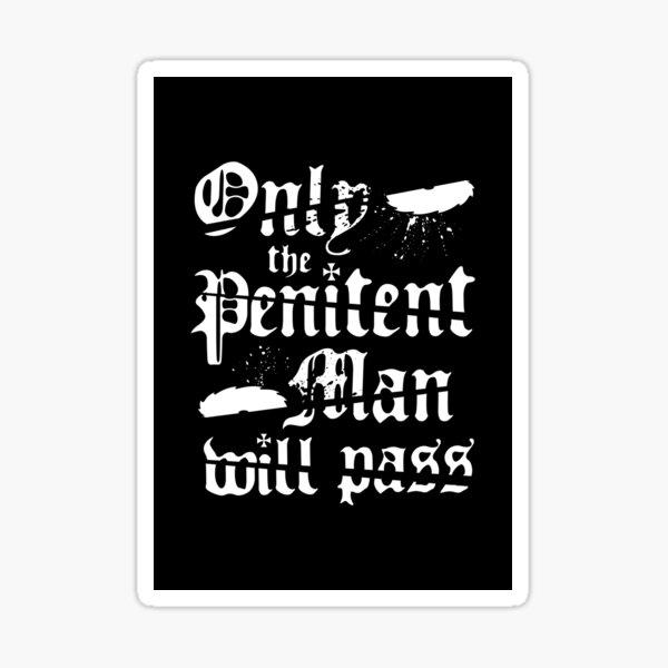 Penitent Man Sticker