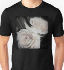 Antique White Roses Slim Fit T-Shirt
