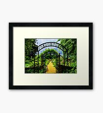 English country garden Framed Print