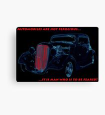 Automobiles Are Not Ferocious Canvas Print