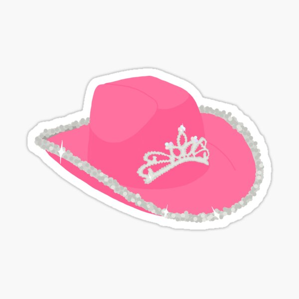 princess cowboy hat Glossy Sticker