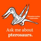Ask Me About Pterosaurs by David Orr